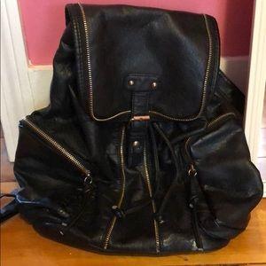 Handbags - Leather cinch backpack